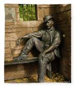 Sundance Kid Statue Fleece Blanket