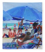 Sunday Beach Blues Fleece Blanket