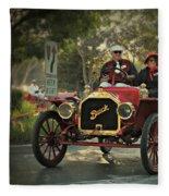 Sunday Drive In A 1910 Buick Fleece Blanket