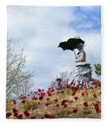 Sunday In The Park Fleece Blanket