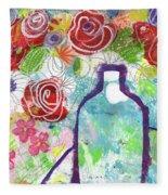 Sunday Market Flowers 2- Art By Linda Woods Fleece Blanket
