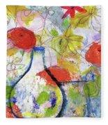 Sunday Market Flowers- Art By Linda Woods Fleece Blanket