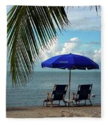 Sunday Morning At The Beach In Key West Fleece Blanket