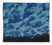 Sunday Sunrise Cumulus Floccus Fleece Blanket