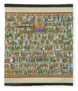 Sunder Kand- Ramayana Phad Fleece Blanket