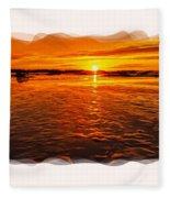 Sundown At Low Tide 2 Fleece Blanket