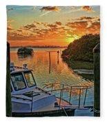 Sundown By H H Photography Of Florida Fleece Blanket