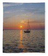 Sundown In The Tropics Fleece Blanket