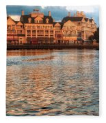 Sundown On The Boardwalk Walt Disney World Fleece Blanket