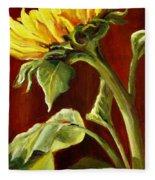 Sunflower - Sunny Side Up Fleece Blanket