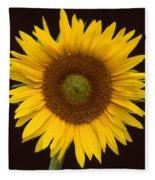 Sunflower 3 Fleece Blanket