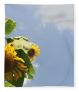 Sunflower 3 Fleece Blanket