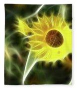 Sunflower-5030-fractal Fleece Blanket