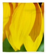 Sunflower Abstract Fleece Blanket