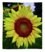 Sunflower After A Summer Rain Fleece Blanket