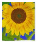 Sunflower Art Fleece Blanket