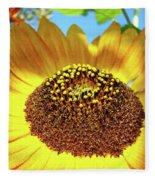 Sunflower Art Prints Orange Yellow Floral Garden Baslee Troutman Fleece Blanket