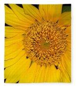 Sunflower At Dusk Fleece Blanket
