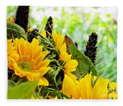 Sunflower Bouquet 2 Fleece Blanket