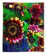 Sunflower Carnival Fleece Blanket
