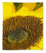 Sunflower Close-up Fleece Blanket