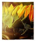 Sunflower Crown Fleece Blanket