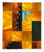 Sunflower Cut-up Fleece Blanket