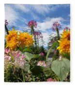Sunflower Day Fleece Blanket