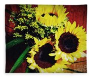 Sunflower Decor 3 Fleece Blanket