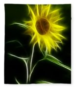 Sunflower Display Fleece Blanket