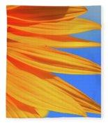Sunflower Elegance Fleece Blanket
