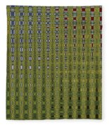 Sunflower Field Abstract Fleece Blanket