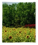 Sunflower Field Fleece Blanket