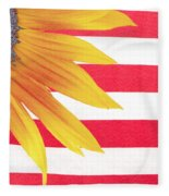 Sunflower Flag Fleece Blanket