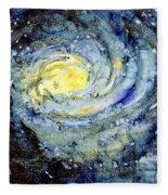 Sunflower Galaxy Fleece Blanket
