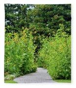 Sunflower Garden Fleece Blanket