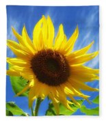 Sunflower Glow Fleece Blanket