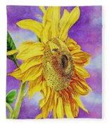 Sunflower Gold Fleece Blanket