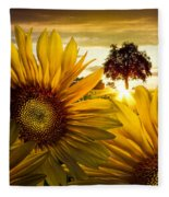 Sunflower Heaven Fleece Blanket