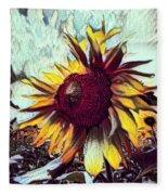 Sunflower In Deep Tones Fleece Blanket