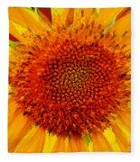 Sunflower In The Sun Fleece Blanket