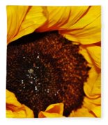 Sunflower In The Sun Fleece Blanket
