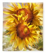 Sunflower Light Fleece Blanket