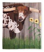 Sunflower Longhorn Fleece Blanket
