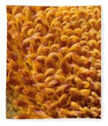 Sunflower Macro Fleece Blanket