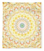 Sunflower Mandala- Abstract Art By Linda Woods Fleece Blanket