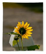 Sunflower Morning Fleece Blanket