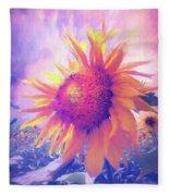 Sunflower Oil Painting Fleece Blanket