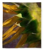 Sunflower On The Side Fleece Blanket
