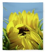 Sunflower Opening Sunny Summer Day 1 Giclee Art Prints Baslee Troutman Fleece Blanket
